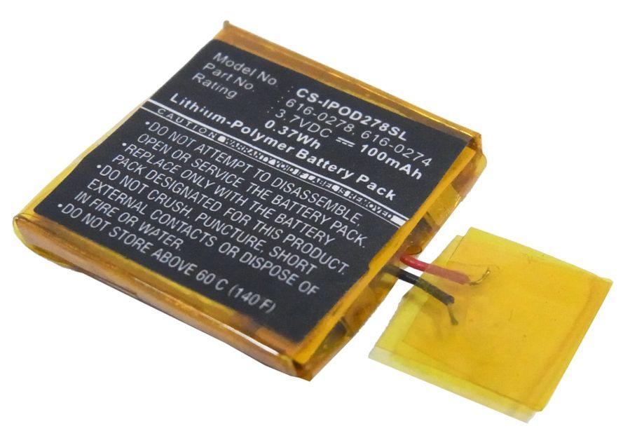 iPOD Shuffle G2 1GB akku 100 mAh