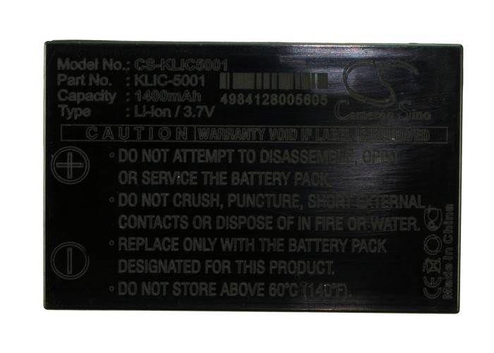 Kodak KLIC-5001, 1054062 yhteensopiva akku 1400 mAh