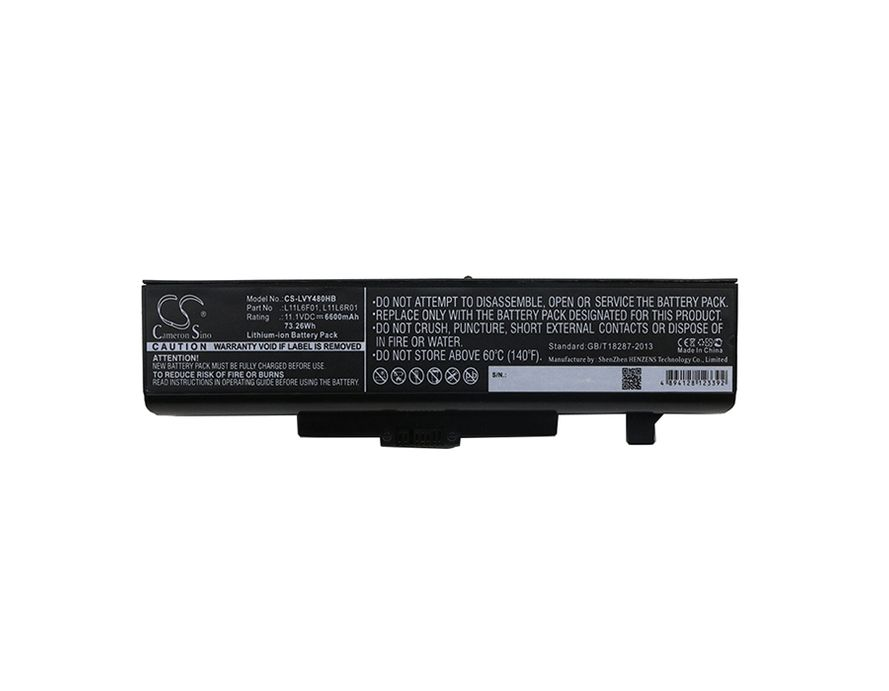 Lenovo Ideapad Y480 akku 6600 mAh - Musta