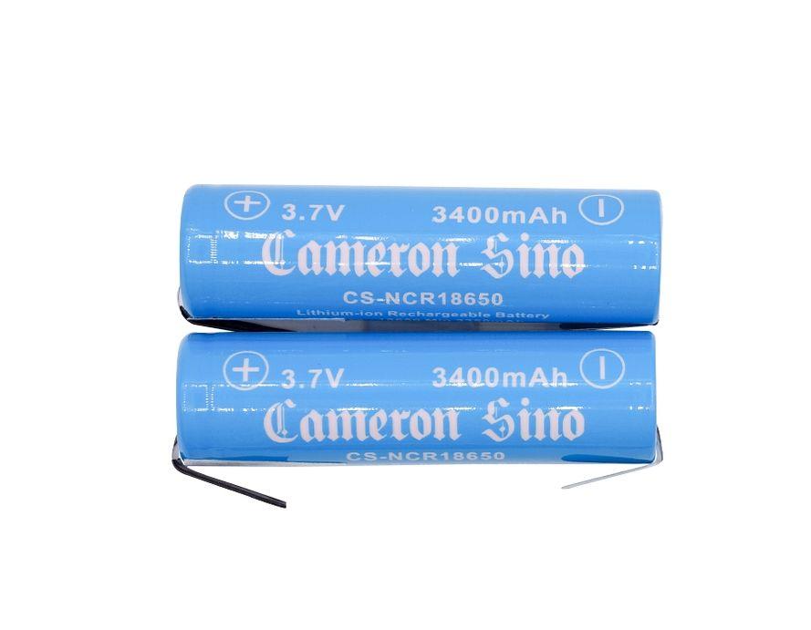 Cameron Sino / Panasonic NCR18650B 18650 Li-ion Akku juotoskorvakkeilla 2kpl 3400mAh