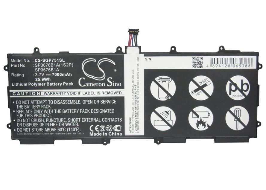 Samsung Galaxy Note 10.1 LTE, Galaxy Tab 2 10.1, Galaxy Tab GT-P7510 akku 7000 mAh