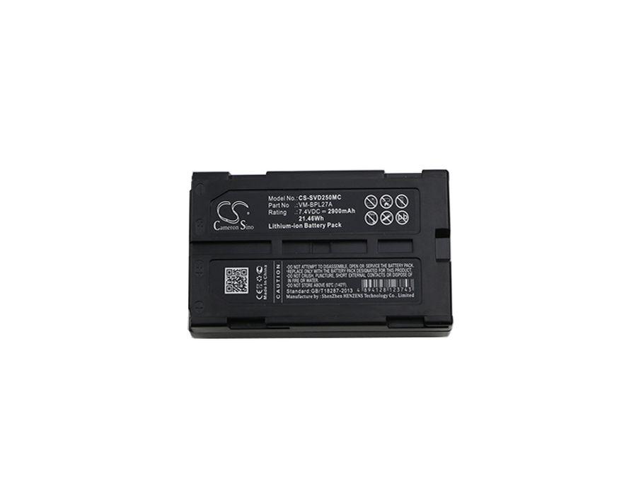Hitachi, JVC, Panasonic & RCA - M-BPL30, VM-BPL13, VM-BPL13A - Li-ion Kameran akku - 2900 mAh