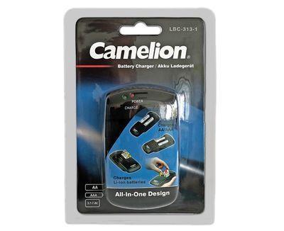 Camelion LBC-313 Universaali yleislaturi kameroille, puhelimille ja muille Ni-Mh ja litium-akuille + USB virtalähde