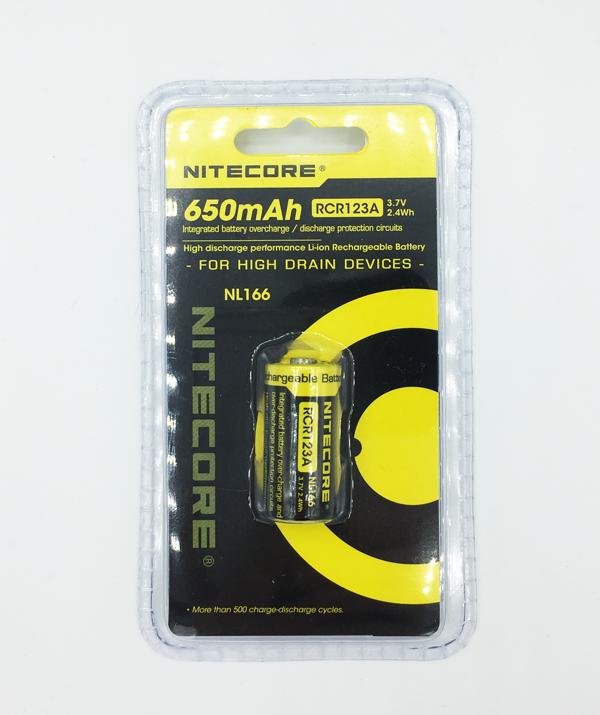 Nitecore NL166 RCR123 3.7V Akkuparisto 650 mAh