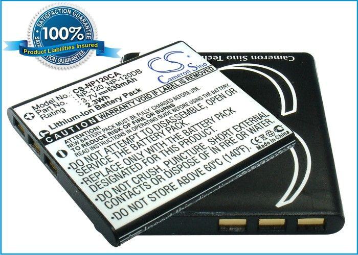 Casio NP-120, NP-120DBA yhteensopiva akku - 630 mAh