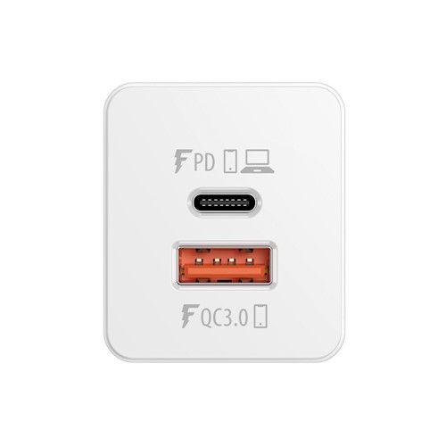 Forever Core GaN 65W USB-C PD + USB QC3.0 Yleismallinen Laturi